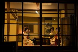 Window view of a Geisha